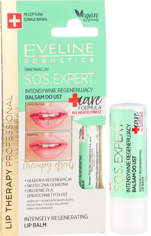 Balsam de buze - Eveline Cosmetics Lip Therapy Sos Expert Care Formula Intensely Regenerating Lip Balm — Imagine N1
