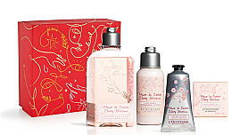 Parfumuri și produse cosmetice Set - L'Occitane Cherry Blossom (sh/gel/250ml + b/lot/75ml + soap/50g + h/cr/75ml)