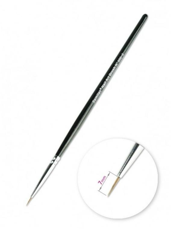 Pensulă pentru manichiură - Semilac Nail Art Kolinsky Brush 000-2 — Imagine N1