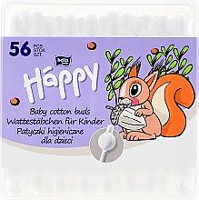 Parfumuri și produse cosmetice Bețișoare din bumbac, 56 bucăți - Bella Baby Happy