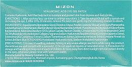 Patch-uri cu acid hialuronic - Mizon Hyaluronic Acid Eye Gel Patch — Imagine N4