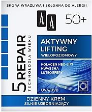 """Parfumuri și produse cosmetice Cremă de zi pentru Fermitate """"Lifting activ"""" 50+ - AA Age Technology 5 Repair Day Cream 50+"""