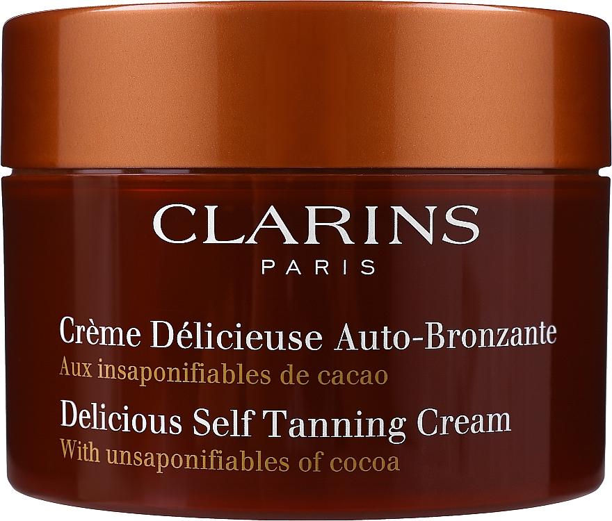 Autobronzant pentru față și corp - Clarins Delicious Self Tanning Cream — Imagine N1