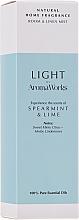 """Parfumuri și produse cosmetice Odorizant de aer """"Mentă și Lime"""" - AromaWorks Light Range Room Mist"""