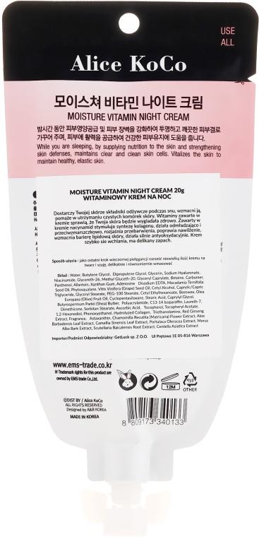Cremă de față - Alice Koco Vitamine Night Cream — Imagine N2