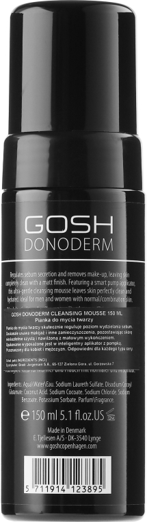 Spumă de curățare pentru corp - Gosh Donoderm Cleansing Mousse — Imagine N2