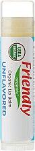 """Parfumuri și produse cosmetice Balsam de buze """"Fără arome"""" - Friendly Organic Lip Balm Unflavored"""