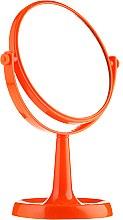 Parfumuri și produse cosmetice Oglindă cu suport 85734, rotundă, 15,5 cm, portocalie - Top Choice Colours Mirror