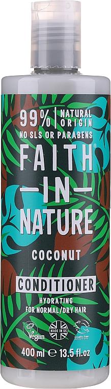 """Balsam pentru păr normal și uscat """"Cocos"""" - Faith In Nature Coconut Conditioner"""