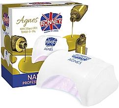 Parfumuri și produse cosmetice Lampă LED pentru unghii, albă - Ronney Professional Agnes LED 48W (GY-LED-032)