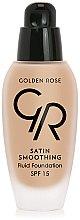 Parfumuri și produse cosmetice Fond de ten - Golden Rose Satin Smoothing Fluid Foundation SPF15
