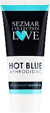 Parfumuri și produse cosmetice Gel pentru igienă intimă și duș - Hristina Cosmetics Sezmar Collection Love Hot Blue Aphrodisiac Shower Gel