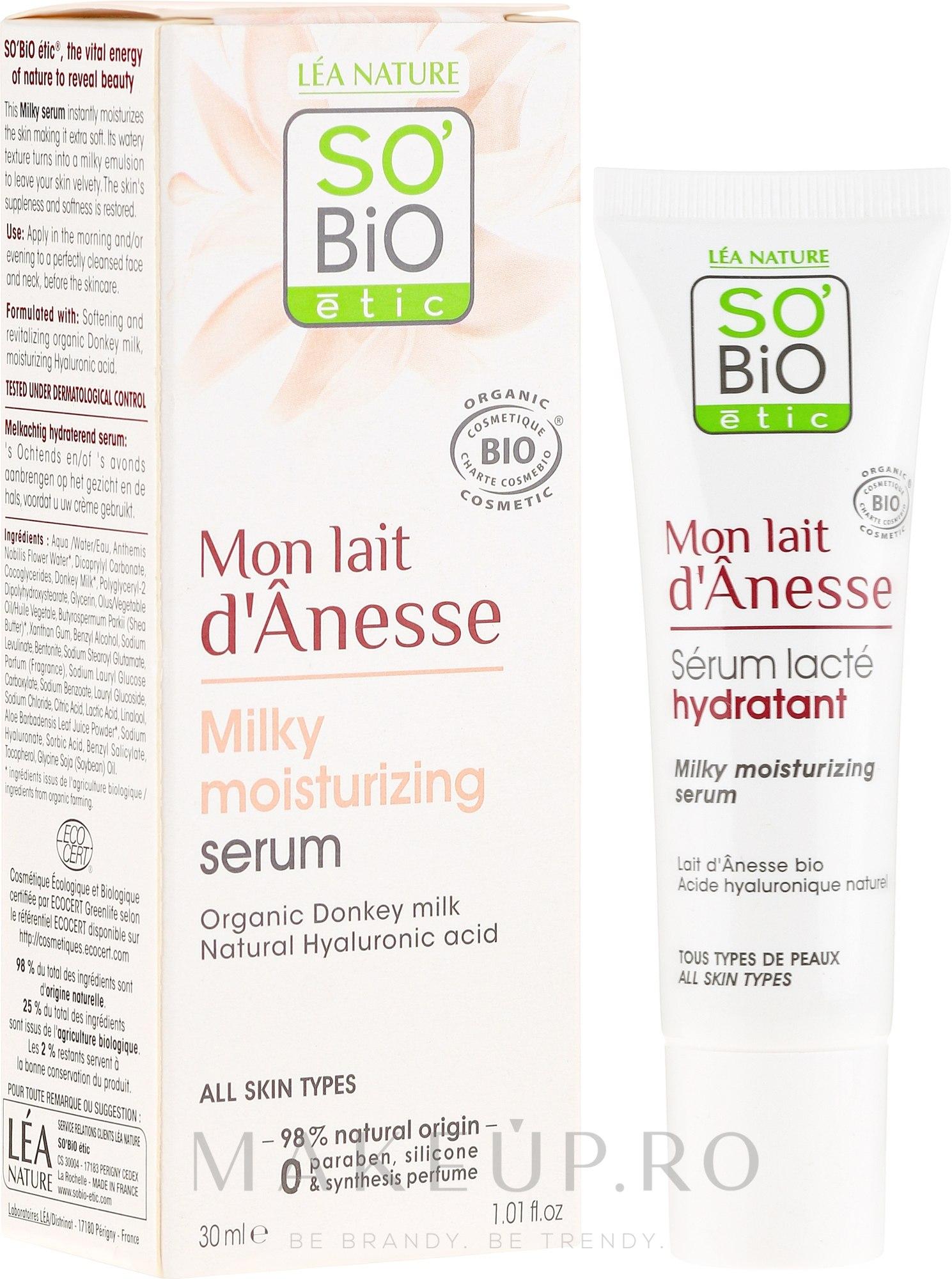 Ser facial - So'Bio Etic Deep Moisturizing Serum — Imagine 30 ml