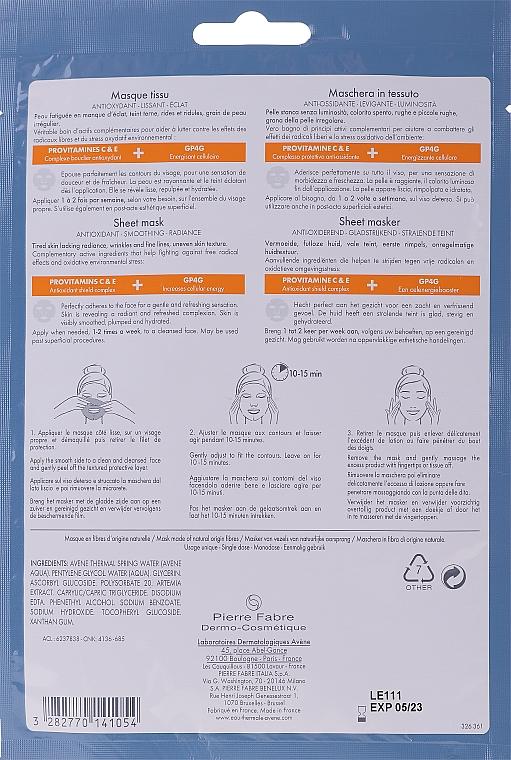 Mască din țesătură pentru față - Avene A-Oxitive Mask — Imagine N2