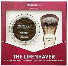 Parfumuri și produse cosmetice Set - Men Rock The Life Shaver Sandalwood Kit (brush/1pcs + sh/cr/100ml)