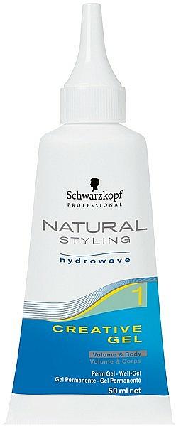 Gel creativ pentru rădacinile părului ondulat - Schwarzkopf Professional Natural Styling Creative Gel №1 — Imagine N2