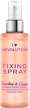 Parfumuri și produse cosmetice Fixator de machiaj - I Heart Revolution Fixing Spray Peaches & Cream