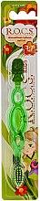 Parfumuri și produse cosmetice Periuță de dinți, pentru copii, verde - R.O.C.S. Kids