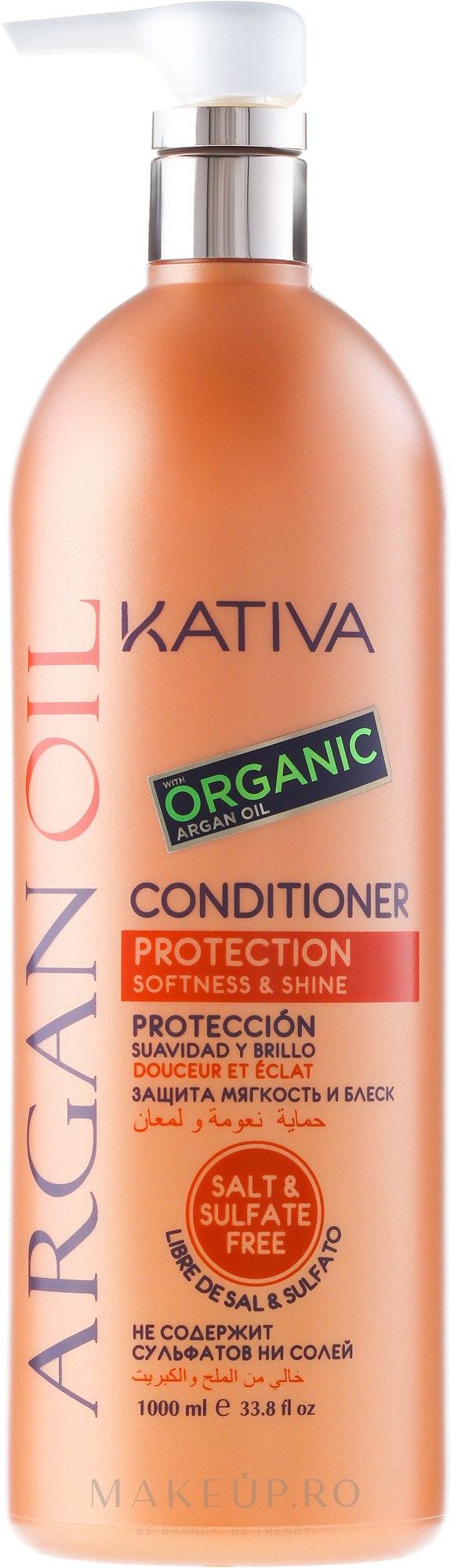 Balsam hidratant pentru păr cu ulei de argan - Kativa Argan Oil Conditioner — Imagine 1000 ml