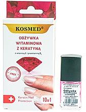 Parfumuri și produse cosmetice Tratament cu vitamine și cheratină pentru unghii - Kosmed Colagen Nail Protection 10in1