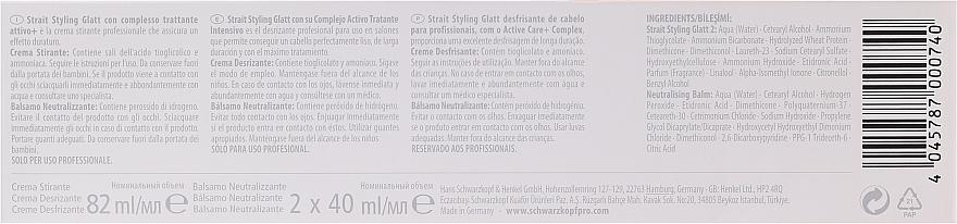 Set pentru îndreptarea părului - Schwarzkopf Professional Strait Styling Glatt kit 2 — Imagine N4