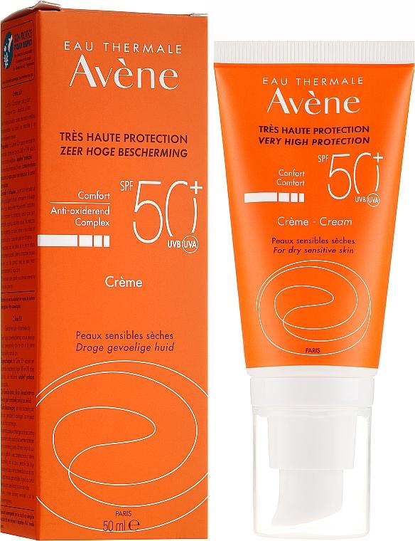 Cremă de protecție solară pentru față - Avene Eau Thermale Sun Cream SPF50 — Imagine N1
