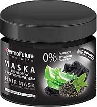 Parfumuri și produse cosmetice Mască pentru păr cu cărbune activ - DermoFuture Hair Mask With Activated Carbon