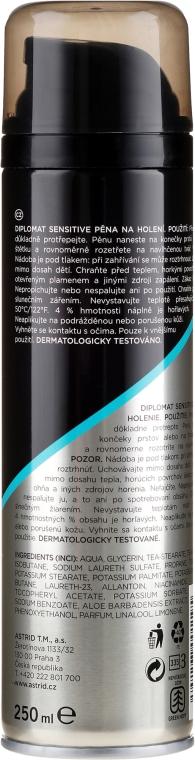 Spumă de ras pentru pielea sensibilă - Astrid Diplomat Sensitive Shaving Foam — Imagine N2