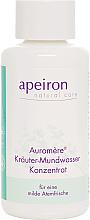 Parfumuri și produse cosmetice Agent de clătire pentru cavitatea bucală - Apeiron Auromere Herbal Mouthwash Concentrate
