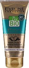Parfumuri și produse cosmetice Cremă-mască hidratantă pentru mâini și unghii - Eveline Cosmetics Bio Argan&Coconut Oil Hand Cream Mask