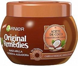 Parfumuri și produse cosmetice Mască pe bază de cocos pentru păr - Garnier Original Remedies Nourishing Straightening Hair Mask With Coconut