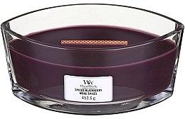 Parfumuri și produse cosmetice Lumânare aromată în suport de sticlă - Woodwick Hearthwick Flame Ellipse Candle Spiced Blackberry