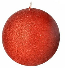 Parfumuri și produse cosmetice Lumânare decorativă, bilă roșie, 8 cm - Artman Glamour