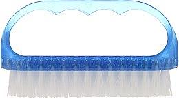Parfumuri și produse cosmetice Perie cosmetică pentru unghii, 74752, albastră - Top Choice