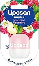 """Parfumuri și produse cosmetice Balsam de buze """"Zmeură și Măr roșu"""" - Liposan Pop Ball"""