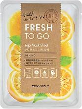 Parfumuri și produse cosmetice Mască de țesut cu citrice yuzu pentru strălucirea pielii - Tony Moly Fresh To Go Mask Sheet Yuja
