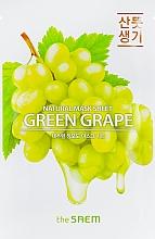 Parfumuri și produse cosmetice Mască din țesătură cu extract de struguri pentru față - The Saem Natural Green Grape Mask Sheet