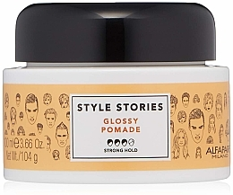 Parfumuri și produse cosmetice Pomadă de păr, fixare puternică - Alfaparf Milano Style Stories Glossy Pomade Strong Hold