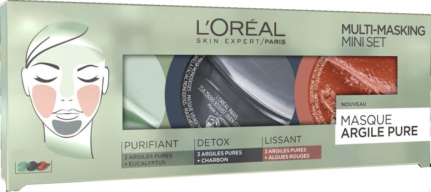 Set - L'Oreal Paris Skin Expert Pure Clay Multi-Masking Mini Set (mask/3*10ml) — Imagine N1