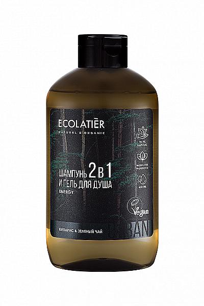 Șampon-gel de duș 2 în 1 pentru bărbați - Ecolatier Urban Energy