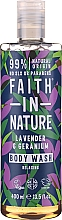 Parfumuri și produse cosmetice Gel de duș - Faith in Nature Lavender & Geranium Body Wash