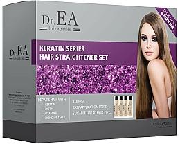 Parfumuri și produse cosmetice Set - Dr.EA Keratin Series Hair Straightener Set (hair/cr/130ml+shm/130ml+shm/130ml+mask/130ml)