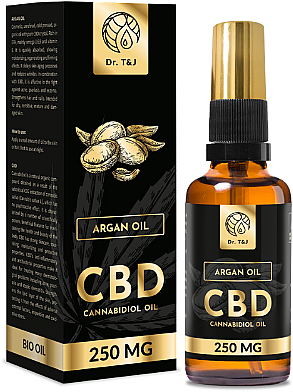 Ulei natural de argan CBD 250mg - Dr. T&J Bio Oil — Imagine N1