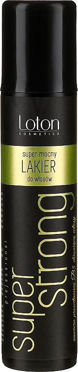 Lac de păr, fixare extra puternică - Loton Hair-Spray Super Strong