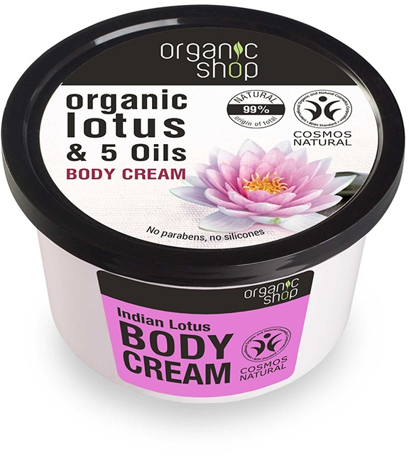 "Cremă pentru corp ""Lotus indian"" - Organic Shop Body Cream Organic Lotus & Oils"