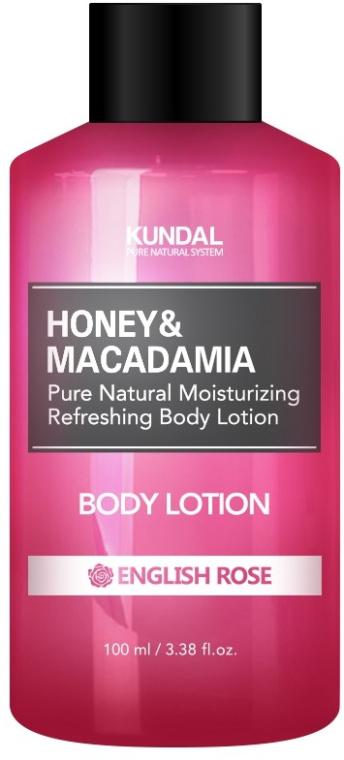 "Loțiune de corp ""Trandafir englez"" - Kundal Honey & Macadamia Body Lotion English Rose"