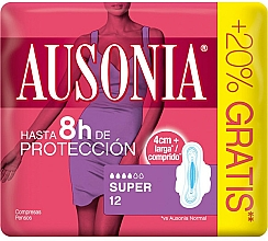 Parfumuri și produse cosmetice Absorbante cu aripioare, 12buc - Ausonia Super Plus Towels