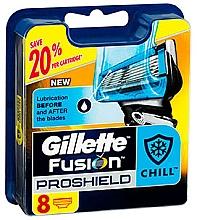 Parfumuri și produse cosmetice Casete de rezervă pentru aparat de ras, 8 bucăți - Gillette Fusion ProShield Chill