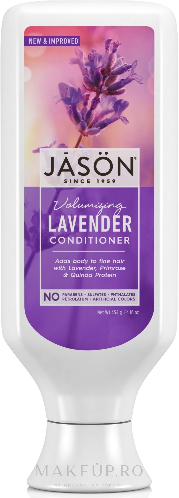 """Balsam pentru păr cu extract de """"Lavandă"""" - Jason Natural Cosmetics Lavender Hair Strengthening Conditioner — Imagine 454 ml"""