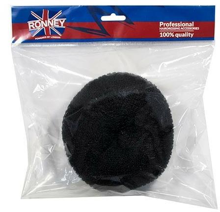 Burete pentru coc, 15x6.5 cm, negru - Ronney Professional Hair Bun 055 — Imagine N1